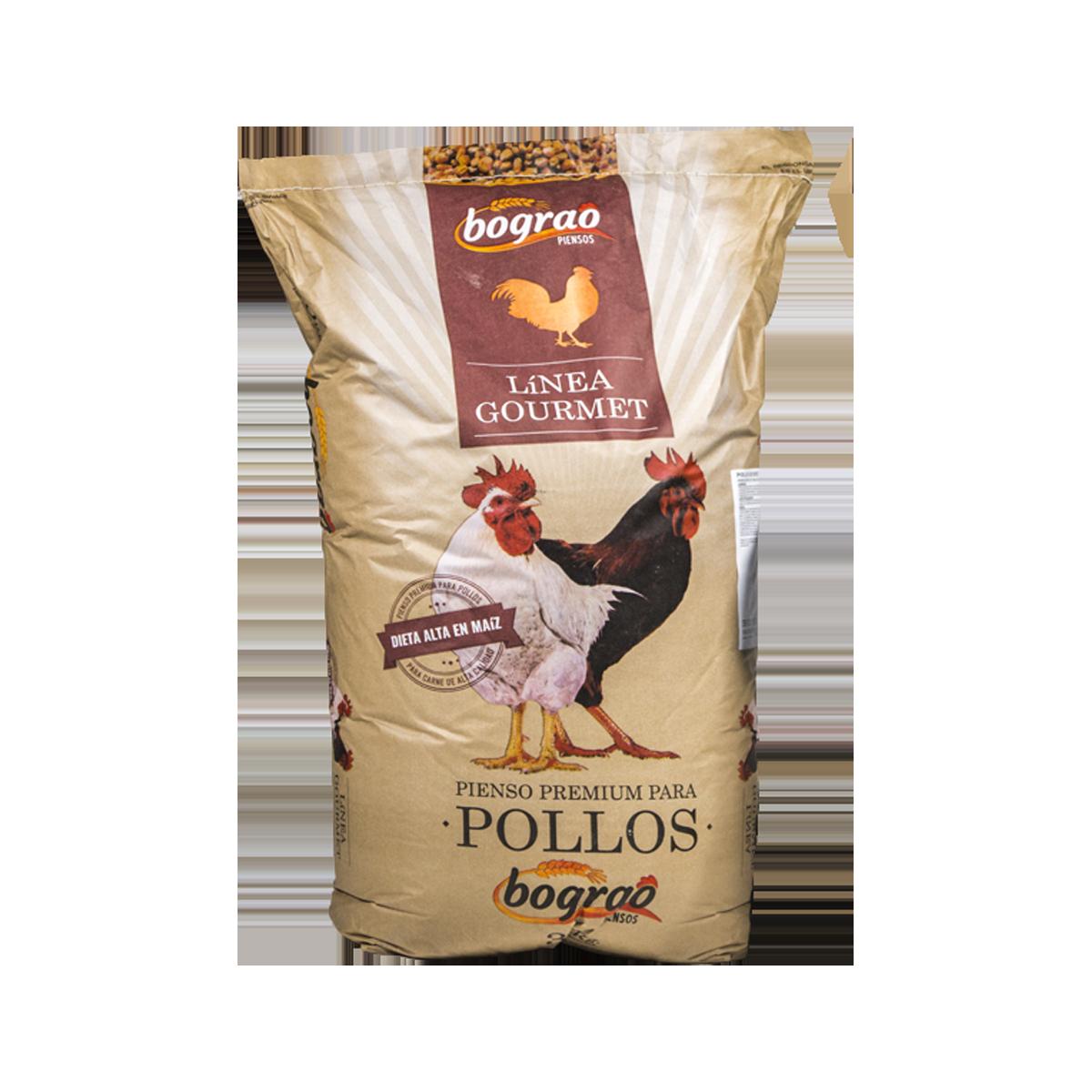 saco pollos gourmet Piensos Bograo